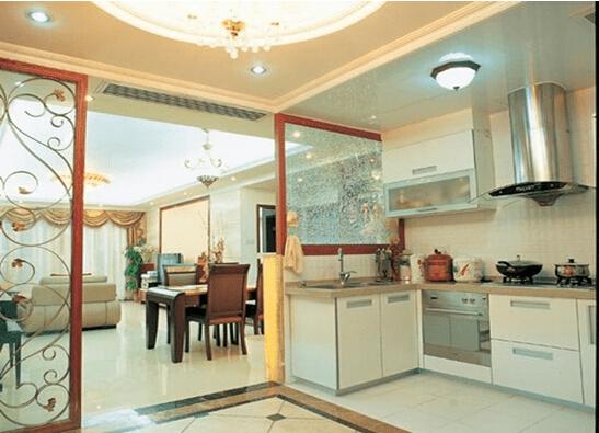 简洁时尚 厨房餐厅隔断效果图图片