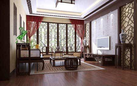 客厅装修效果图 时尚的新中式风格
