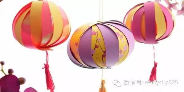 中秋节手工-多款灯笼制作过程女