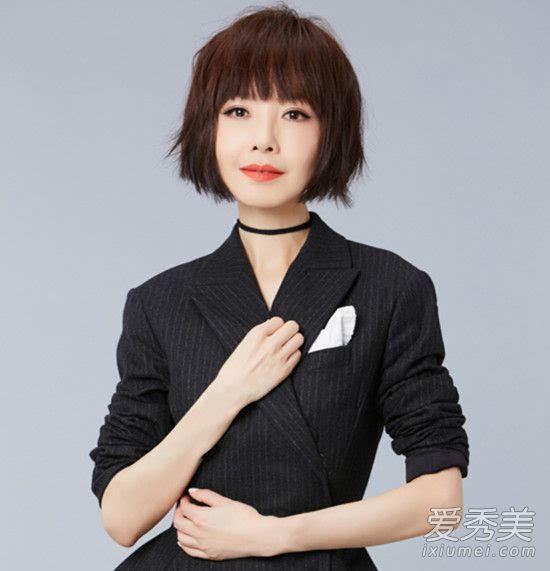 最近鲁豫也剪了这款发型,齐刘海配上齐肩短发感觉好少女,她的发型没有