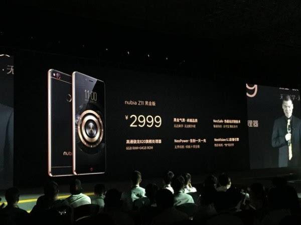 售价2999元起:努比亚黑金传奇 nubia Z11新版本发布的照片 - 1