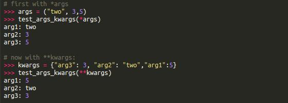 *args和kwargs在Python中的作用