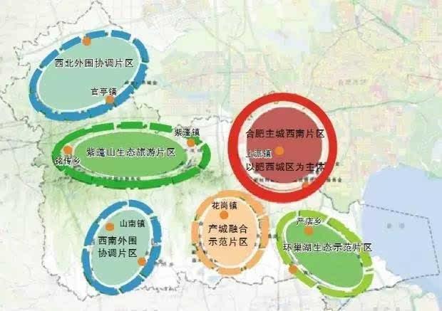 肥东2030规划图
