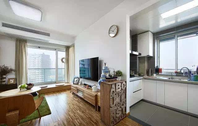 两室两厅,小客厅打通阳台配北欧风太赞了!
