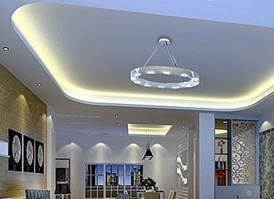 简约客厅吊顶效果图 现代客厅吊顶的选择
