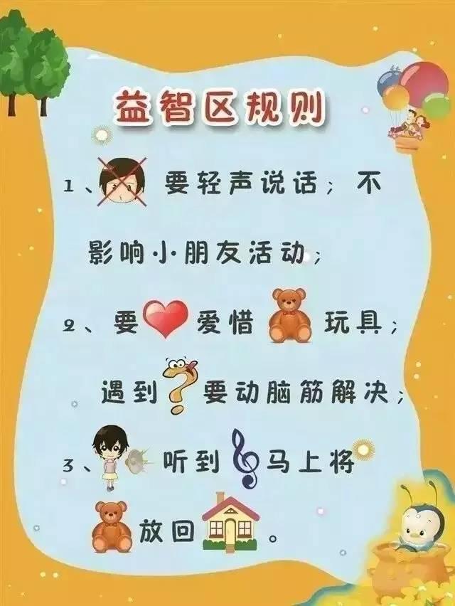幼儿园各个区域规则设置,啥区都有,赶紧收藏