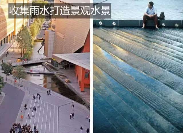 对于不适用绿色屋顶的屋面,也可以通过排水沟,雨水链等方式收集引导