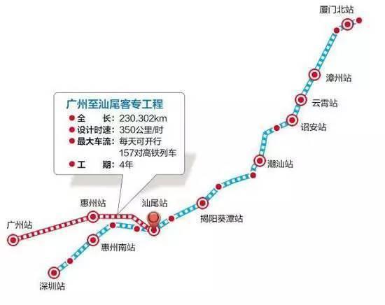 一起看看这条线路的具体情况吧▼ 除广州,汕尾,惠州三大车站外,还设有