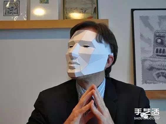 立体数控做法的纸雕派对用卡纸面具图纸制作面具四平市竞赛手工图片
