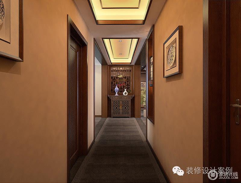 建造了仿古屋檐,使空间呈现出古典建筑的苍辣质感,博古架,陶器,中式假图片