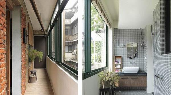 三面窗户阳台装修 三面阳台公寓装修效果图