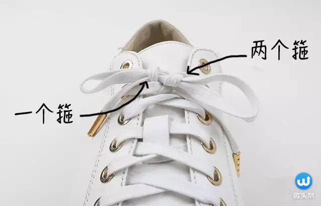 这样如果家长是右撇子的,也能轻松教左撇子小孩绑鞋带.图片