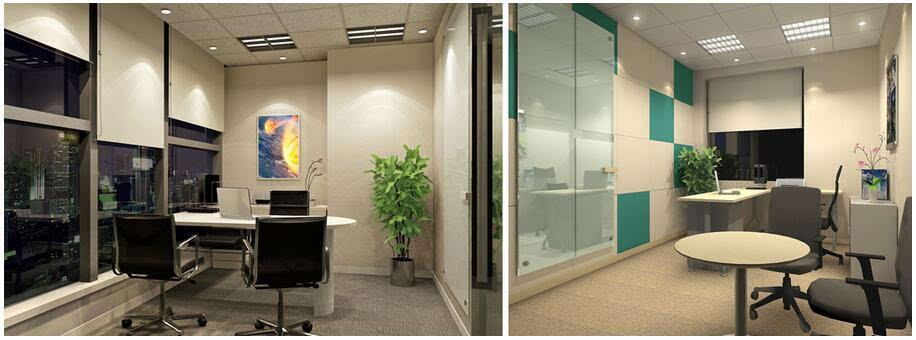 小办公装修也要突出实用和环境的优美才能够让员工在里面很好的进行工作,图上的这款小办公室的装修就很注重色彩上的搭配,以精美温馨的壁纸来装点办公室的背景墙,办公桌的设计采取灵活的设计,精美的挂画装点背景墙,让办公室充满书香气息。展露工作背后的温馨! 30平办公室装修图片欣赏(三)