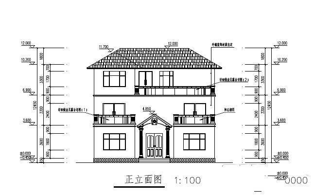 140平新农村三层别墅设计 三层别墅设计图