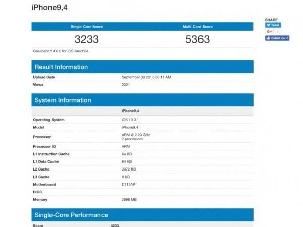 iPhone 7 Plus硬件曝光:CPU主频2.23GHz+3GB内存的照片 - 2