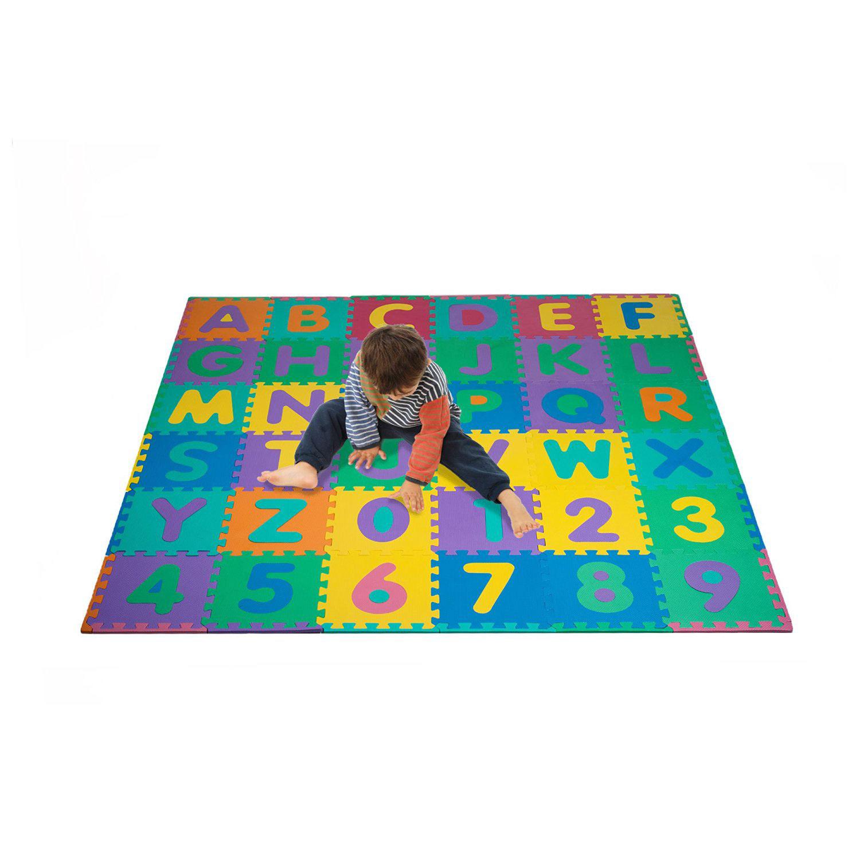 英文字母数字儿童拼图游戏泡沫软垫