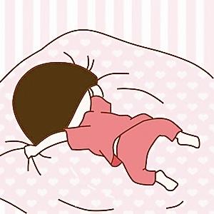 卡通幼儿园午睡起床