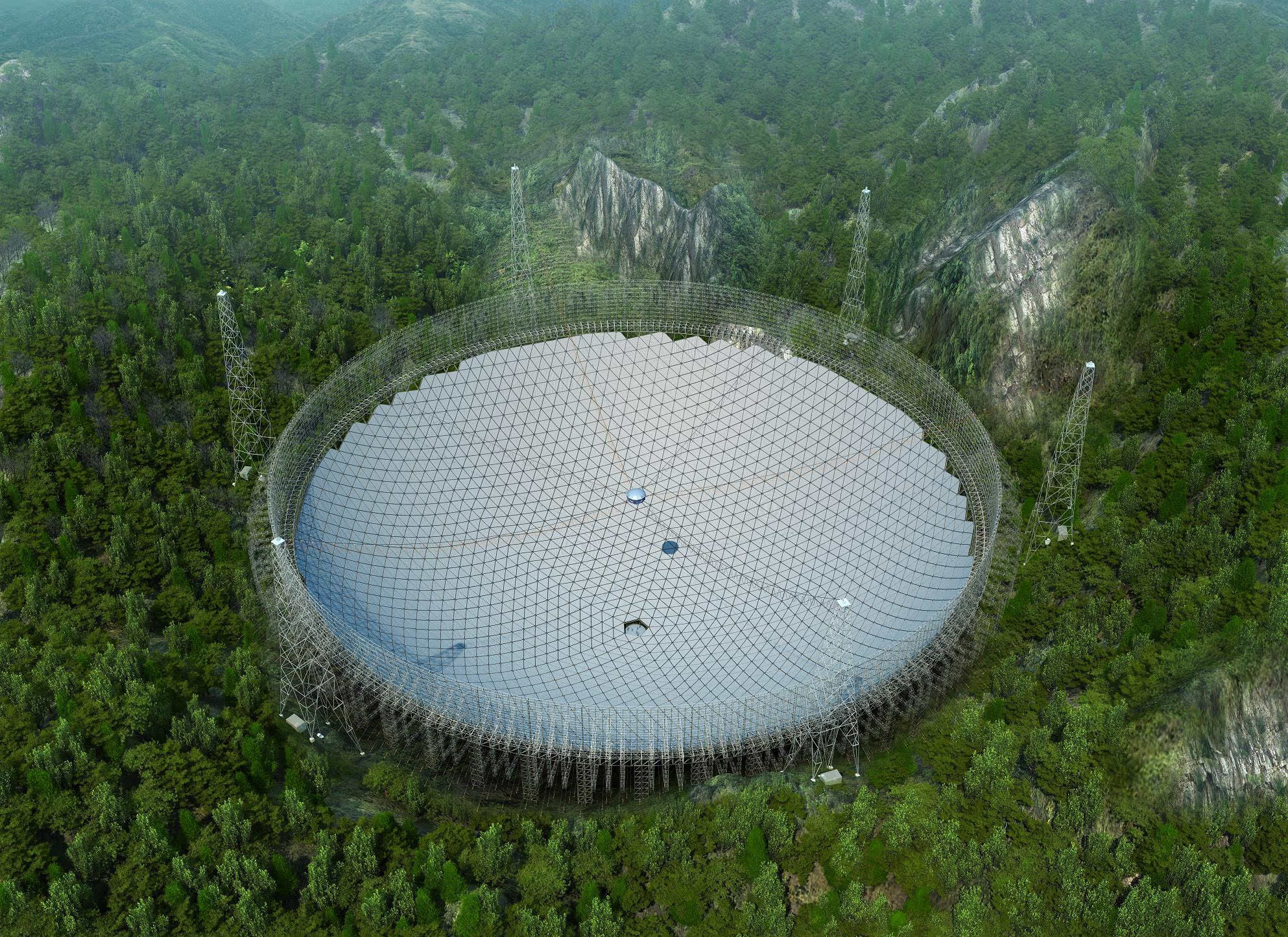 超级天眼整体完工 可收1351光年外脉冲星信号的照片