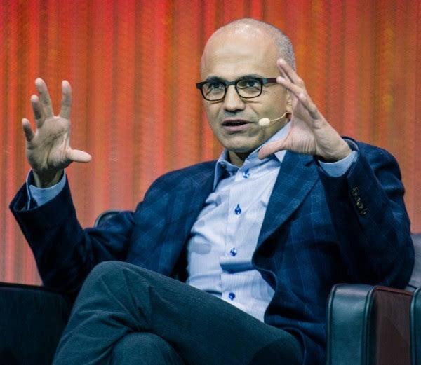 纳德拉暗讽谷歌IBM:我们的人工智能不玩游戏的照片