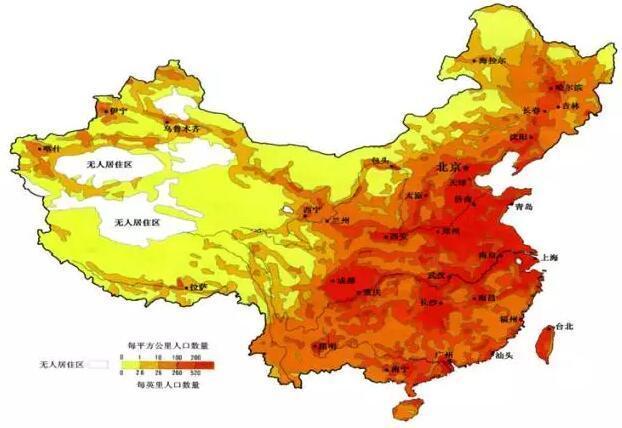 图14:中国东部地区人口密度高,也有利于发展氢能经济