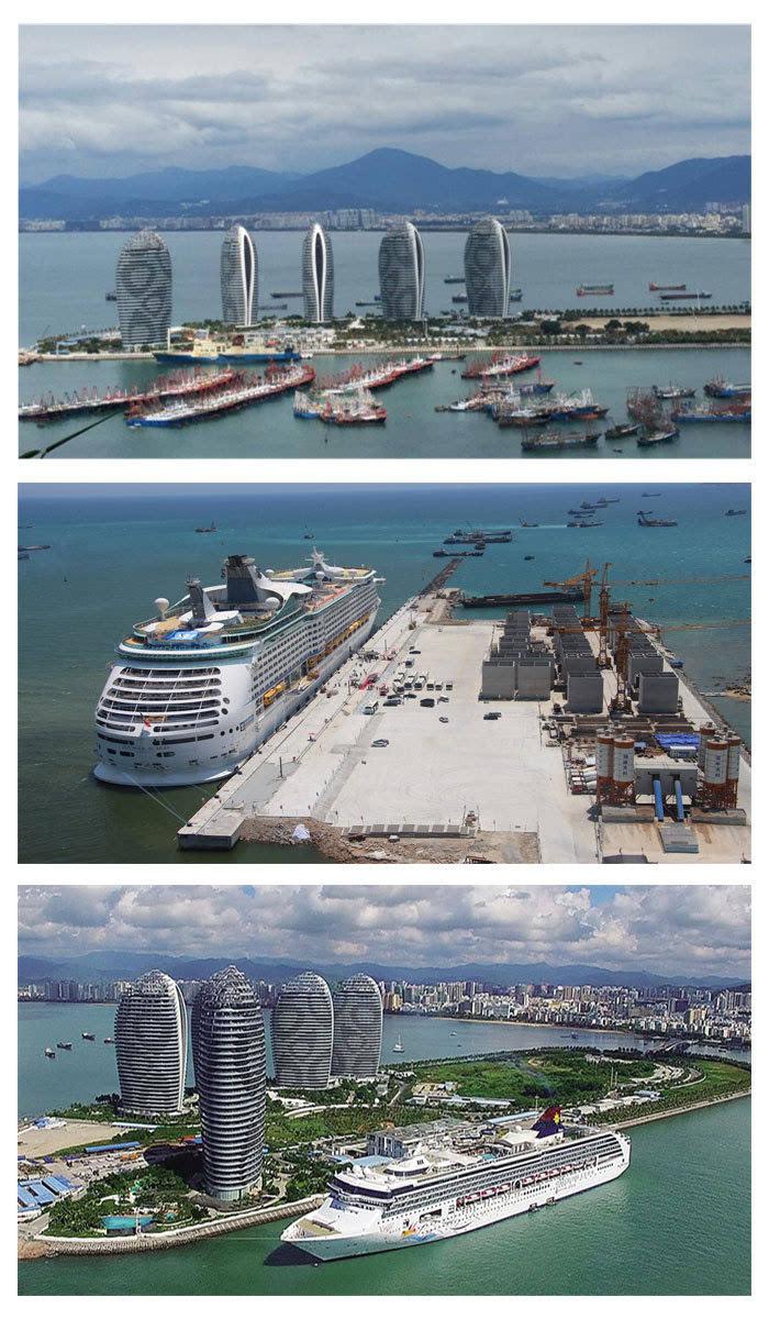 三亚凤凰岛国际邮轮港:中国南方和东南亚地区海上客运中心和国际游船