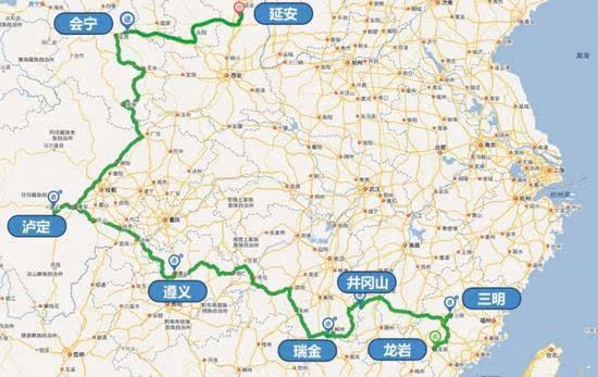 通过这条线路我们可以感受到红军两万五千里长征的不易,也可以近距离图片