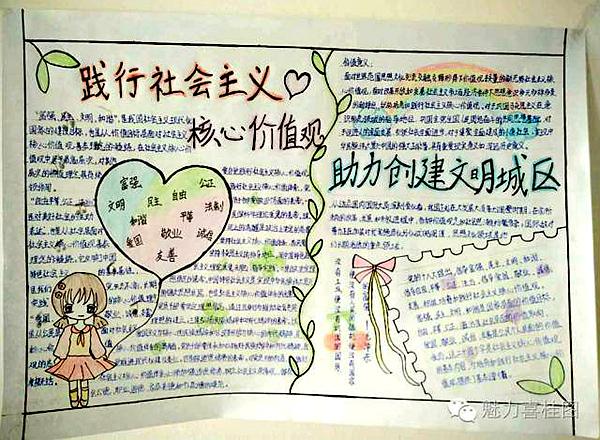 广大学生充分发挥聪明才智,积极踊跃地参与手抄报的设计与制作.