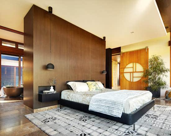 极简卧室设计隔断小户型客厅卧室隔断图片3