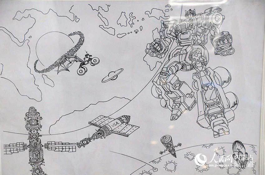 中蒙俄少年儿童科学幻想美术作品展在内蒙古科技馆开幕