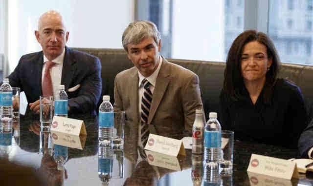 当科技大佬们遇上特朗普:一个个表情亮了图片