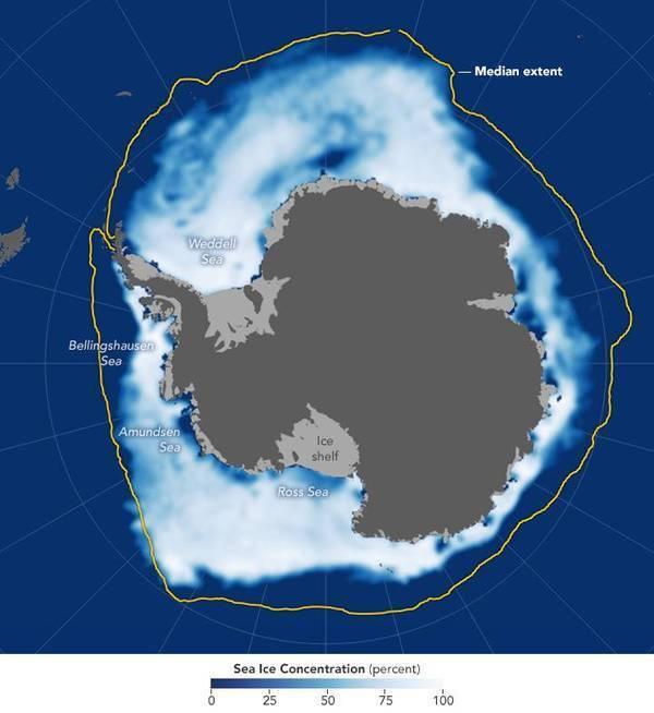 """南北极海冰覆盖面积纷纷降至历史新低"""""""