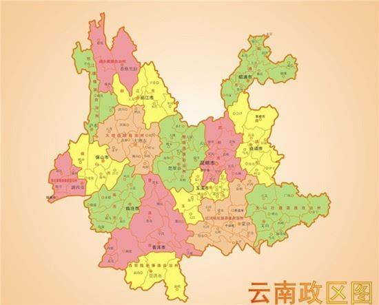 广西云南旅游地图