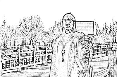 雷岗公园手绘画