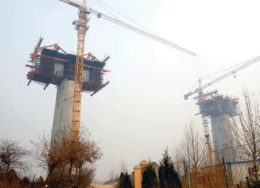 蒙华铁路河津段施工过半图片