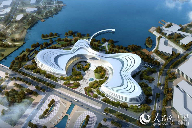 中建钢构中标柳东新区文化广场项目 蝶形设计抢眼
