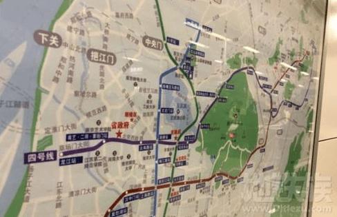 """南京地铁站线路图""""换装"""",4号线""""亮相"""""""