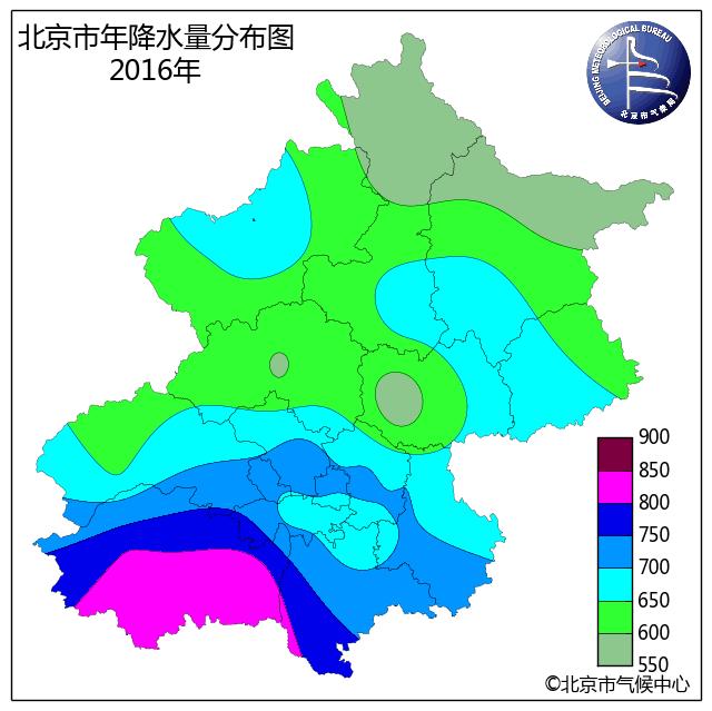 2016年北京气候特征 平均气温略偏高 降水量偏多