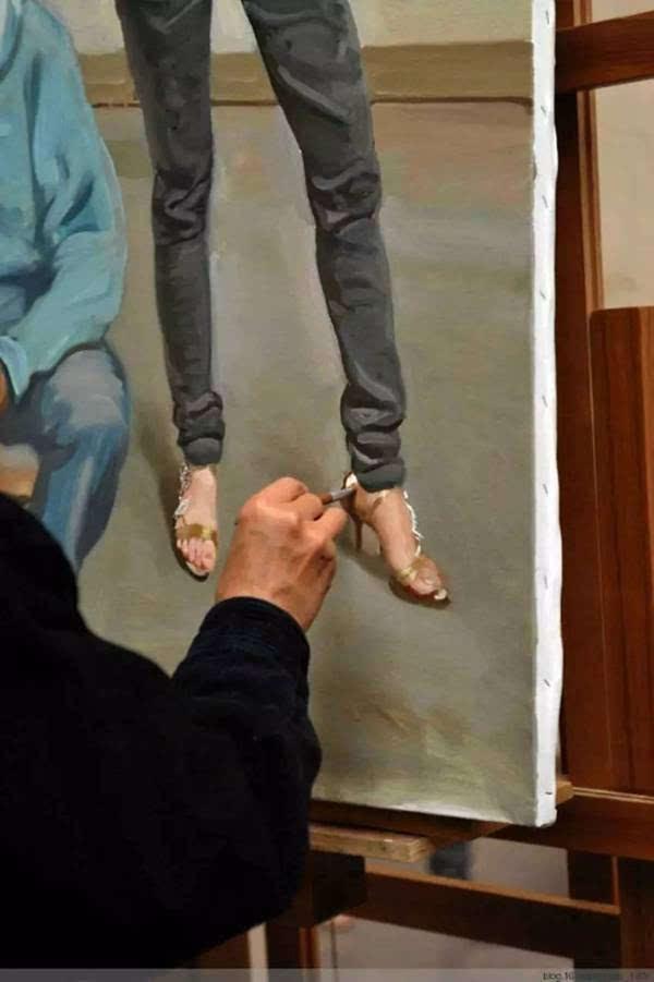 陈丹青油画绘画步骤过程
