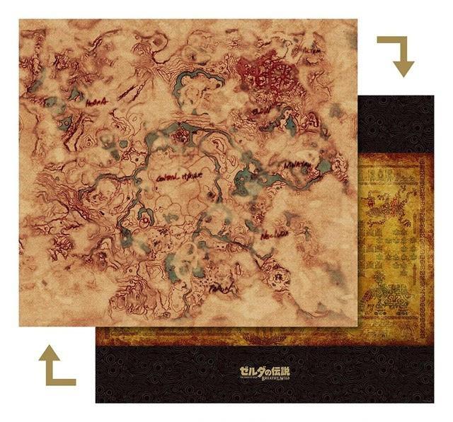 《塞尔达�o�是墨麒麟�是传说:荒野之息》地图详