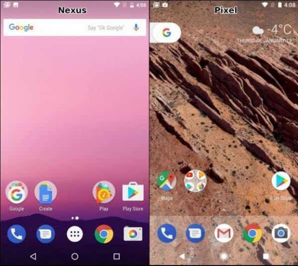 谷歌Pixel与Nexus 的UI比较:差异不大的照片 - 2