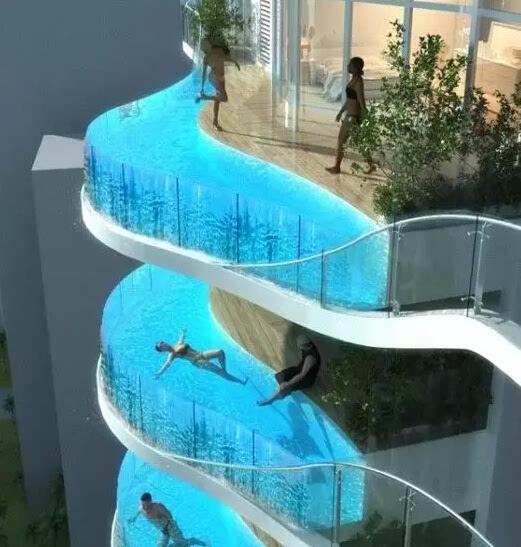 空中泳池_财经 正文  得克萨斯州一家酒店,在十楼做了这样一个空中泳池,悬臂