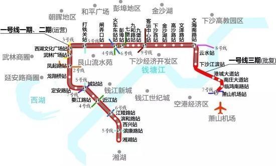杭州地铁1号线三期工程图片
