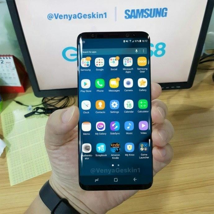 三星S8开机正面照首曝iPhone可以扔了