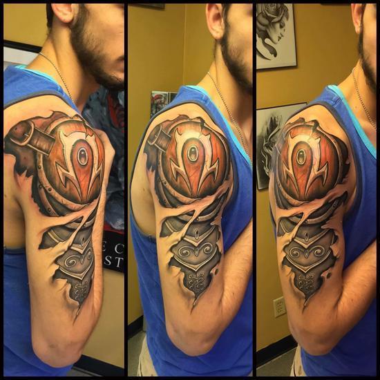 部落精神深入骨髓:国外玩家超酷炫肩部部落纹身