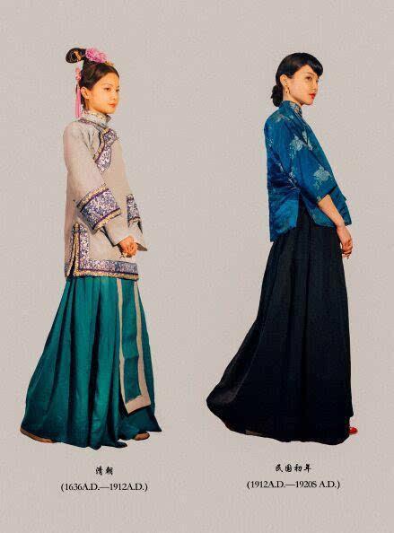 清朝女装图片手绘