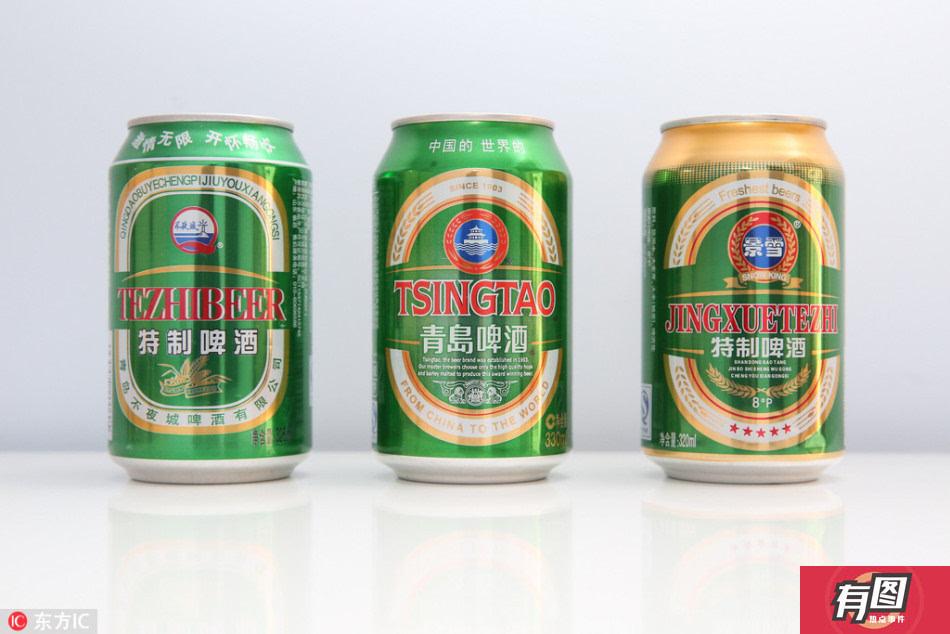 不夜城特制啤酒vs青岛啤酒vs景雪特制啤酒