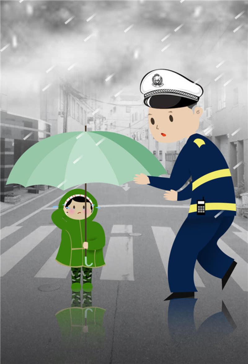 周围上班的环卫工人,城管将男孩领至重庆建工二建公司大厅避雨,并拨打