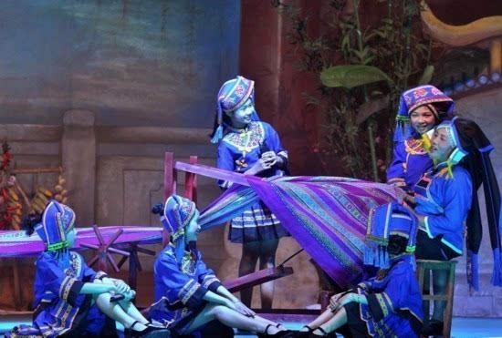 壮文化剧目《贝侬》在山圩镇举行首场演出