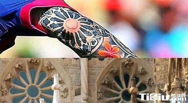 """对于为什么选择教堂的玫瑰窗的问题,纹身师给了这样的解释:""""巴塞罗那"""