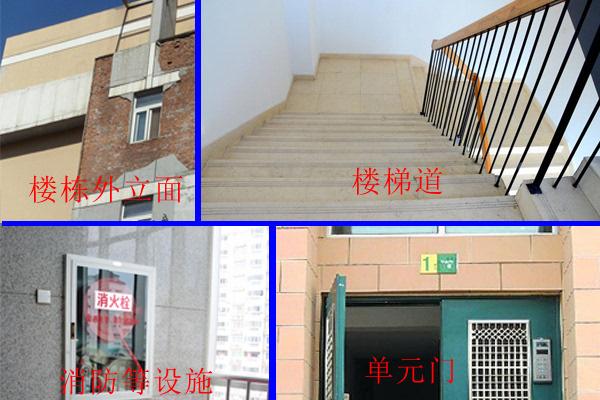 门禁设施是否能正常使用;楼道楼梯安全性和消防设施